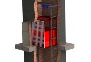 Подъемник в лифтовой шахте